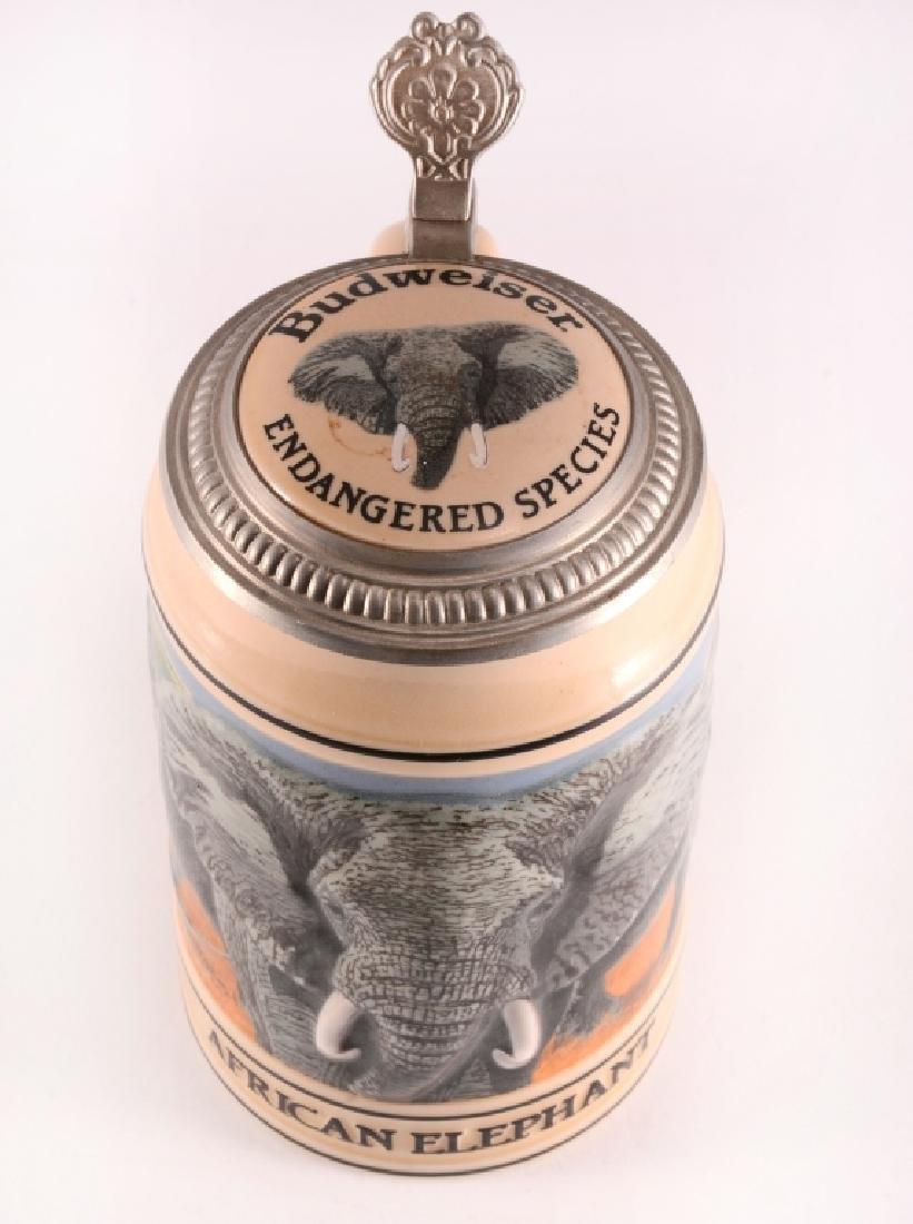 """Budweiser """"African Elephant"""" Stein w/Lid - 2"""