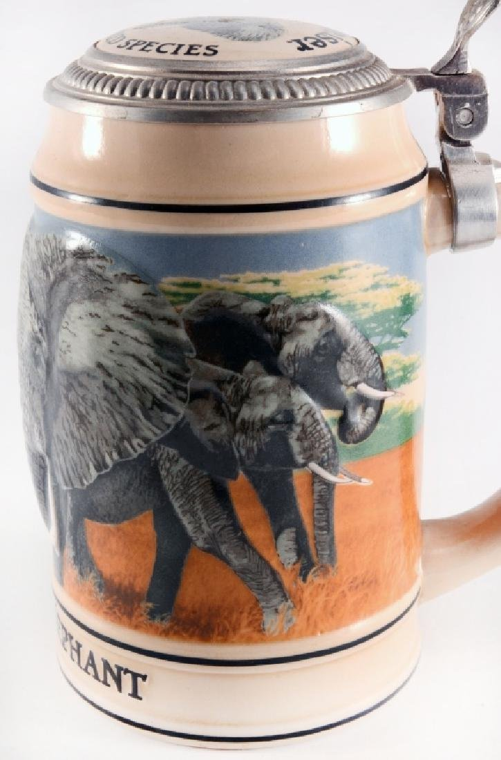 """Budweiser """"African Elephant"""" Stein w/Lid - 4"""