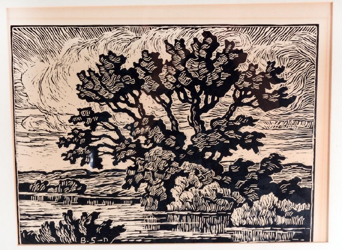 """""""Prarie Stream"""" Block Print By Birger Sandzen - 2"""