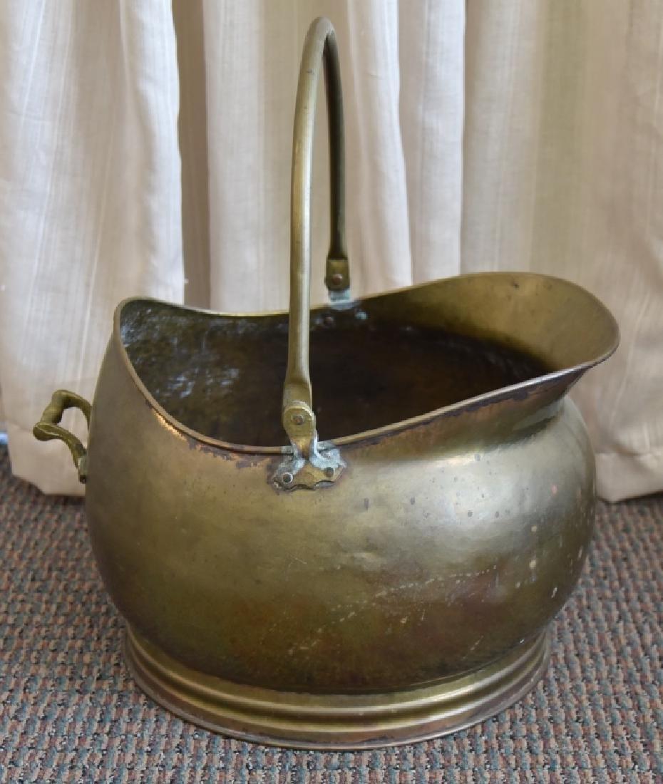 Antique Brass Bucket w/Handle