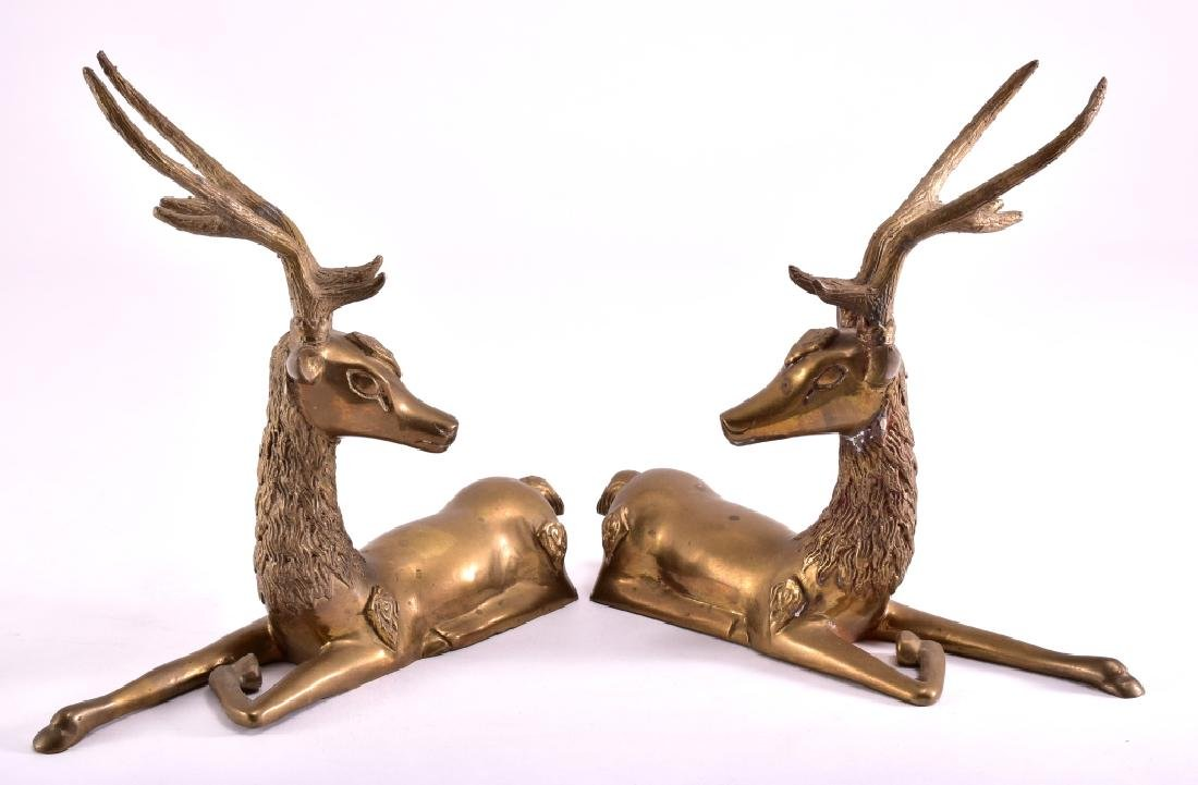 Vintage Brass Deer - 2