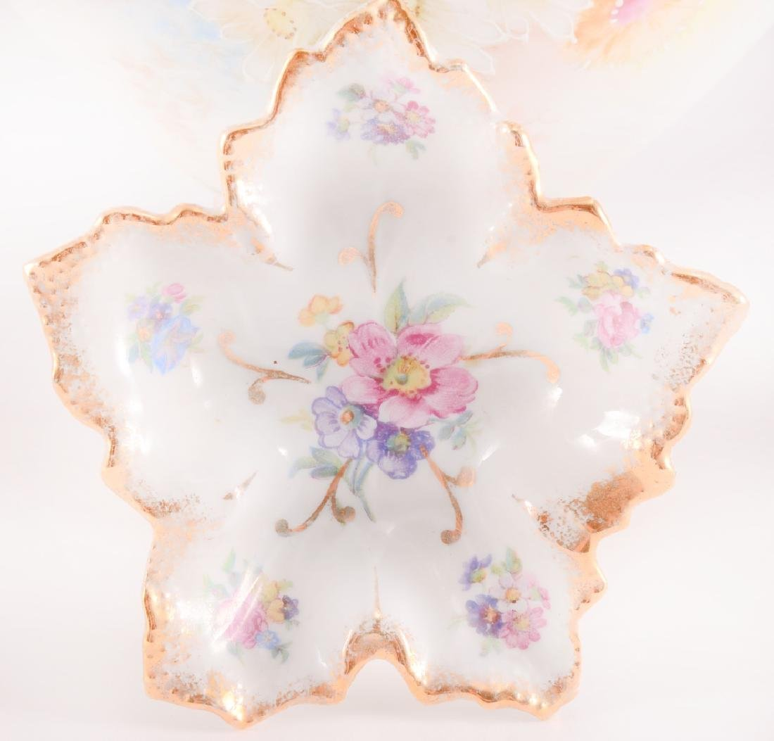 5 Floral Gold Accent Decorative Ceramic Pieces - 2