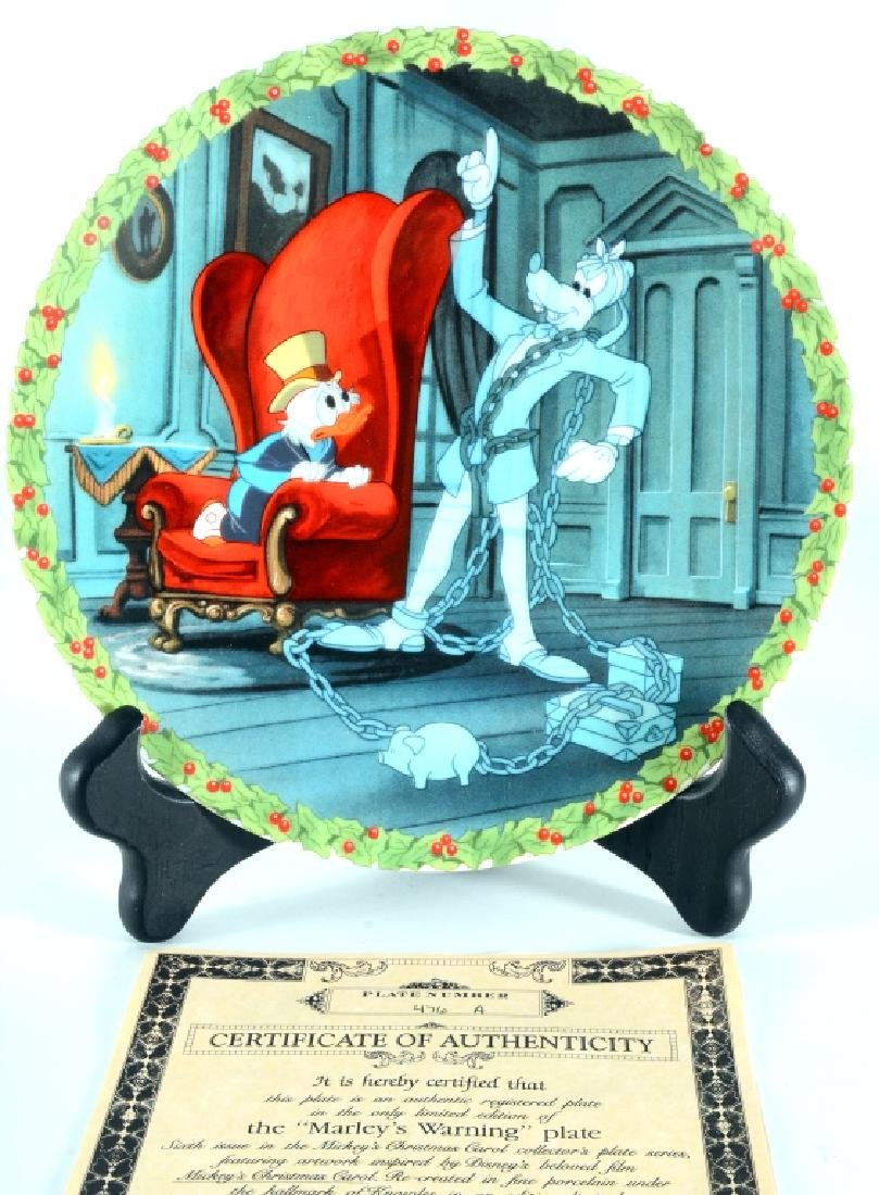 8 Mickey's Christmas Carol Collector Plates - 10