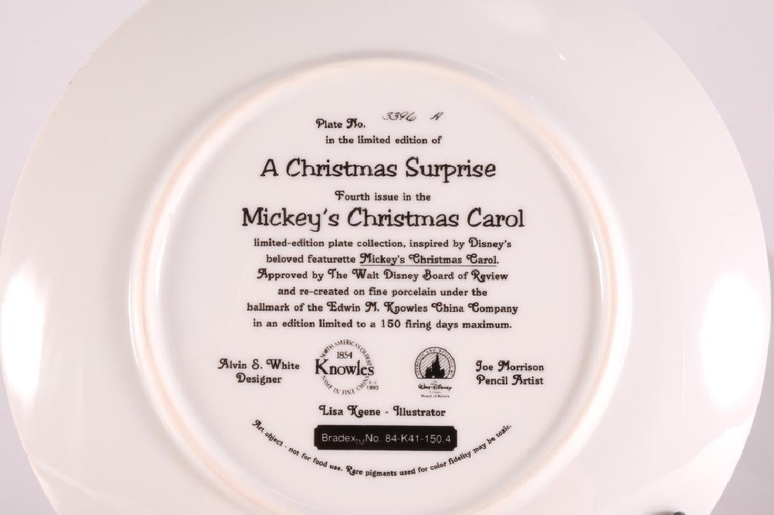 8 Mickey's Christmas Carol Collector Plates - 13