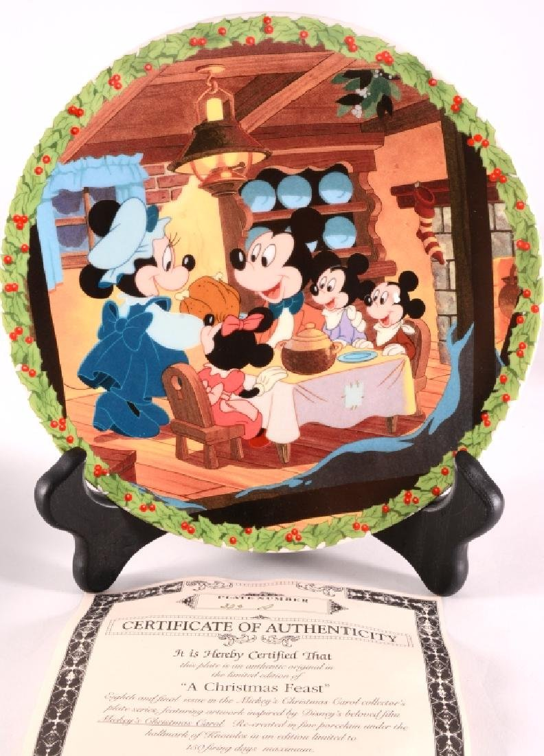 8 Mickey's Christmas Carol Collector Plates - 14