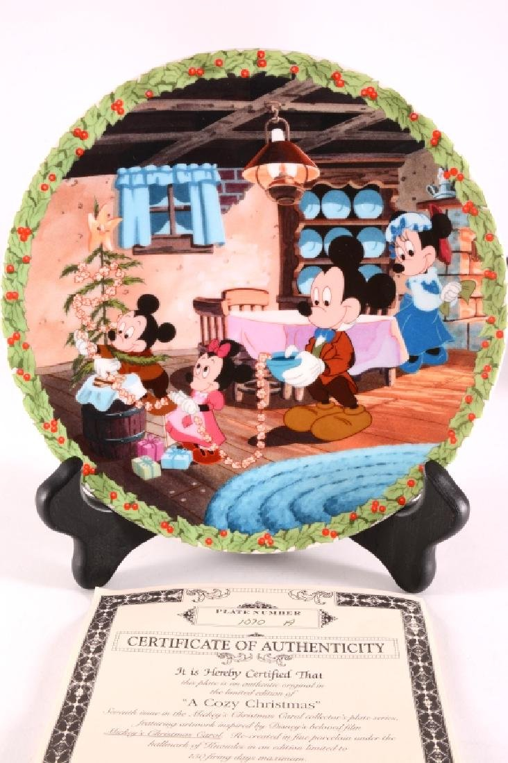 8 Mickey's Christmas Carol Collector Plates - 16