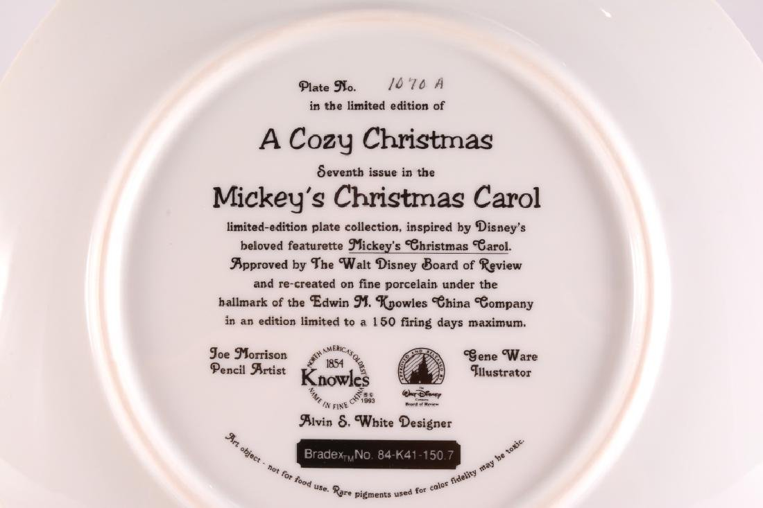 8 Mickey's Christmas Carol Collector Plates - 17