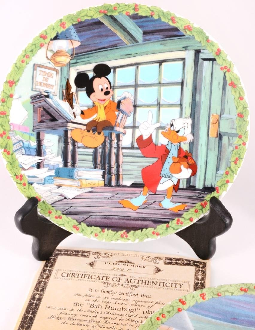 8 Mickey's Christmas Carol Collector Plates - 2