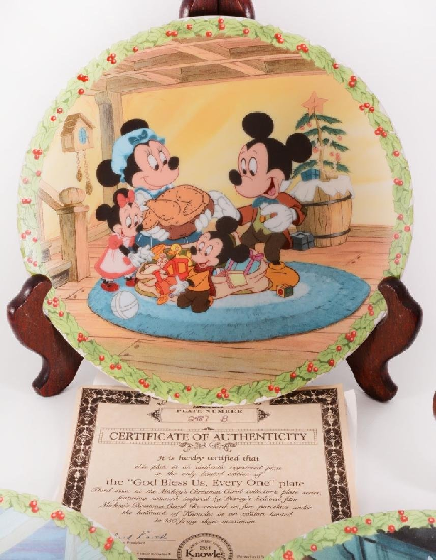 8 Mickey's Christmas Carol Collector Plates - 3