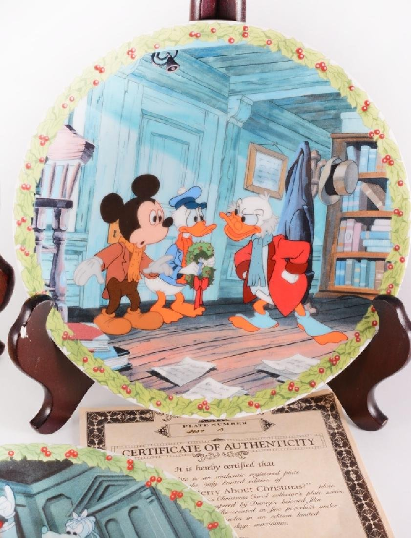 8 Mickey's Christmas Carol Collector Plates - 4