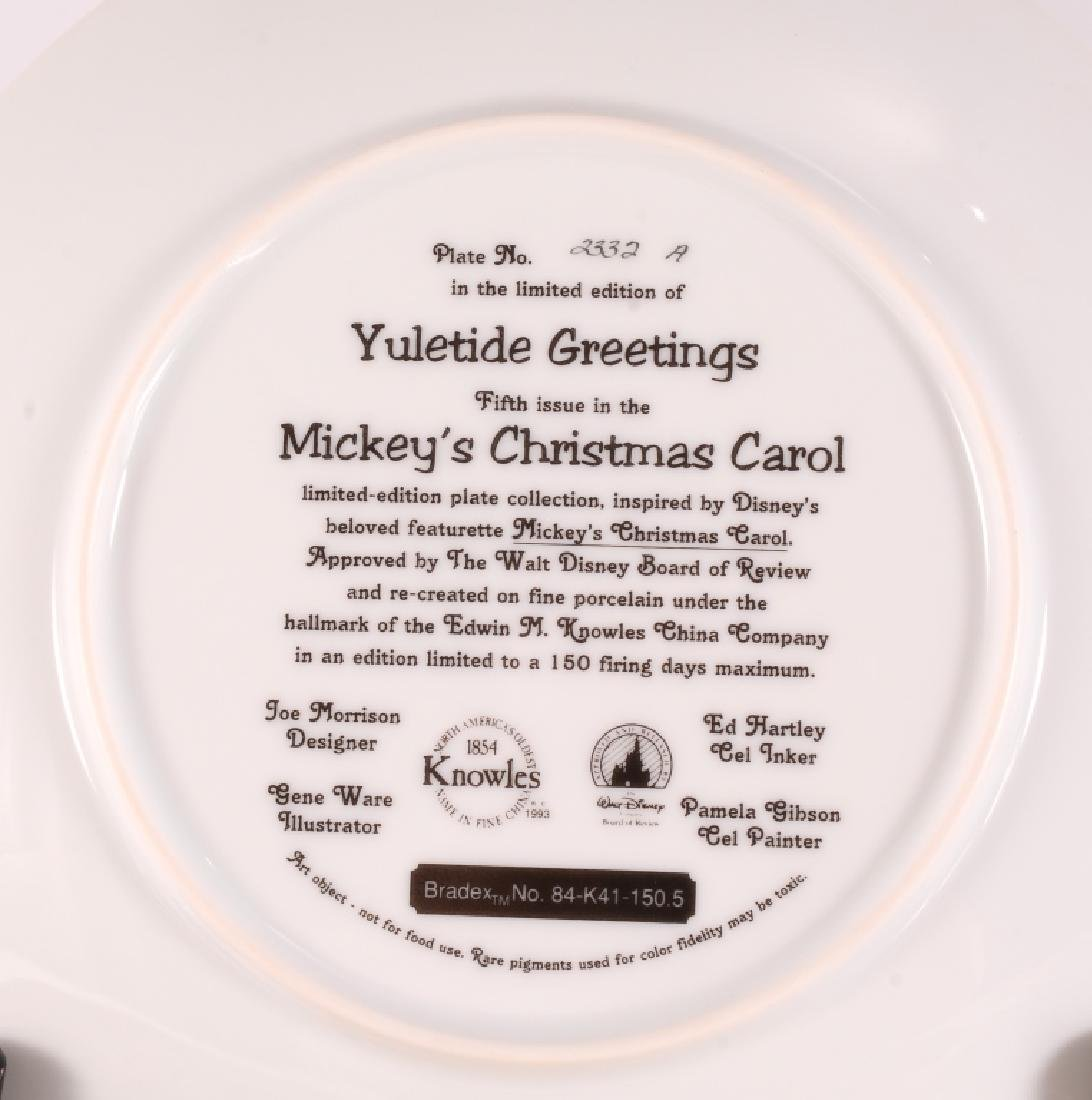 8 Mickey's Christmas Carol Collector Plates - 9
