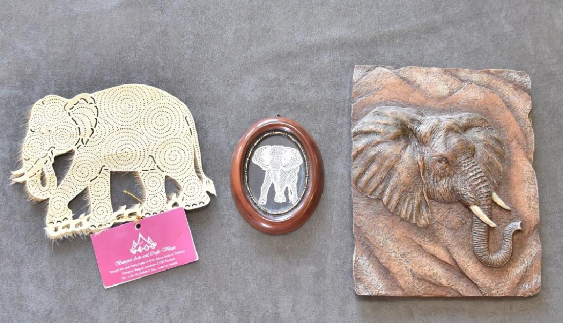 3 Mixed Media Elephant Art Pieces