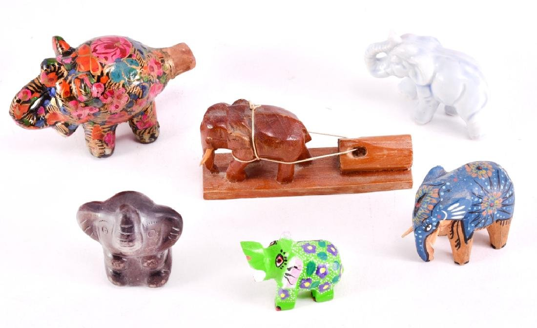 Floral Ceramic Elephant Whistle & More - 2