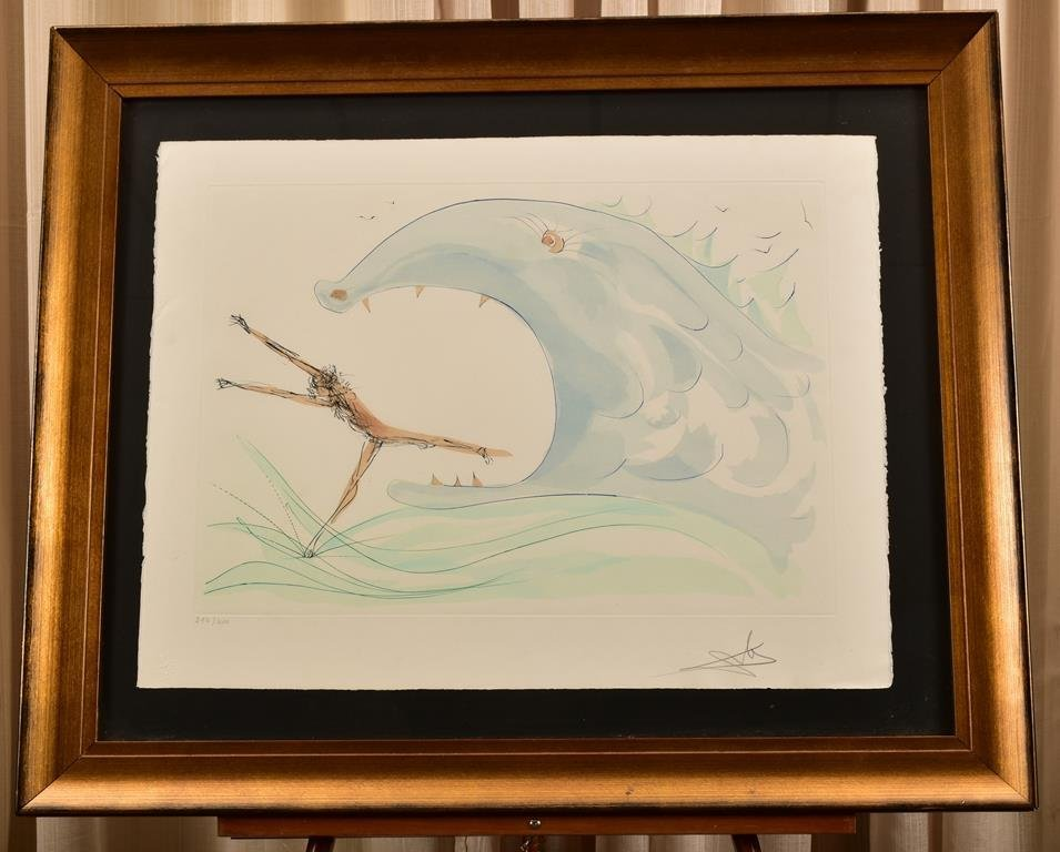 "Dali Color Drypoint Limited Ed. ""Jonah and The Whale"""