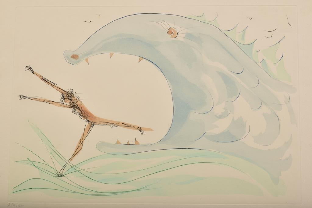 "Dali Color Drypoint Limited Ed. ""Jonah and The Whale"" - 4"