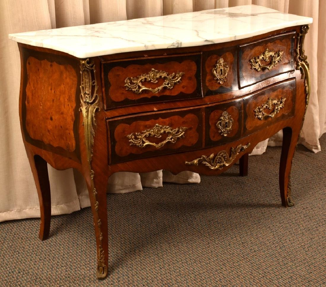 Louis XV Style Serpentine Front Commode - 2