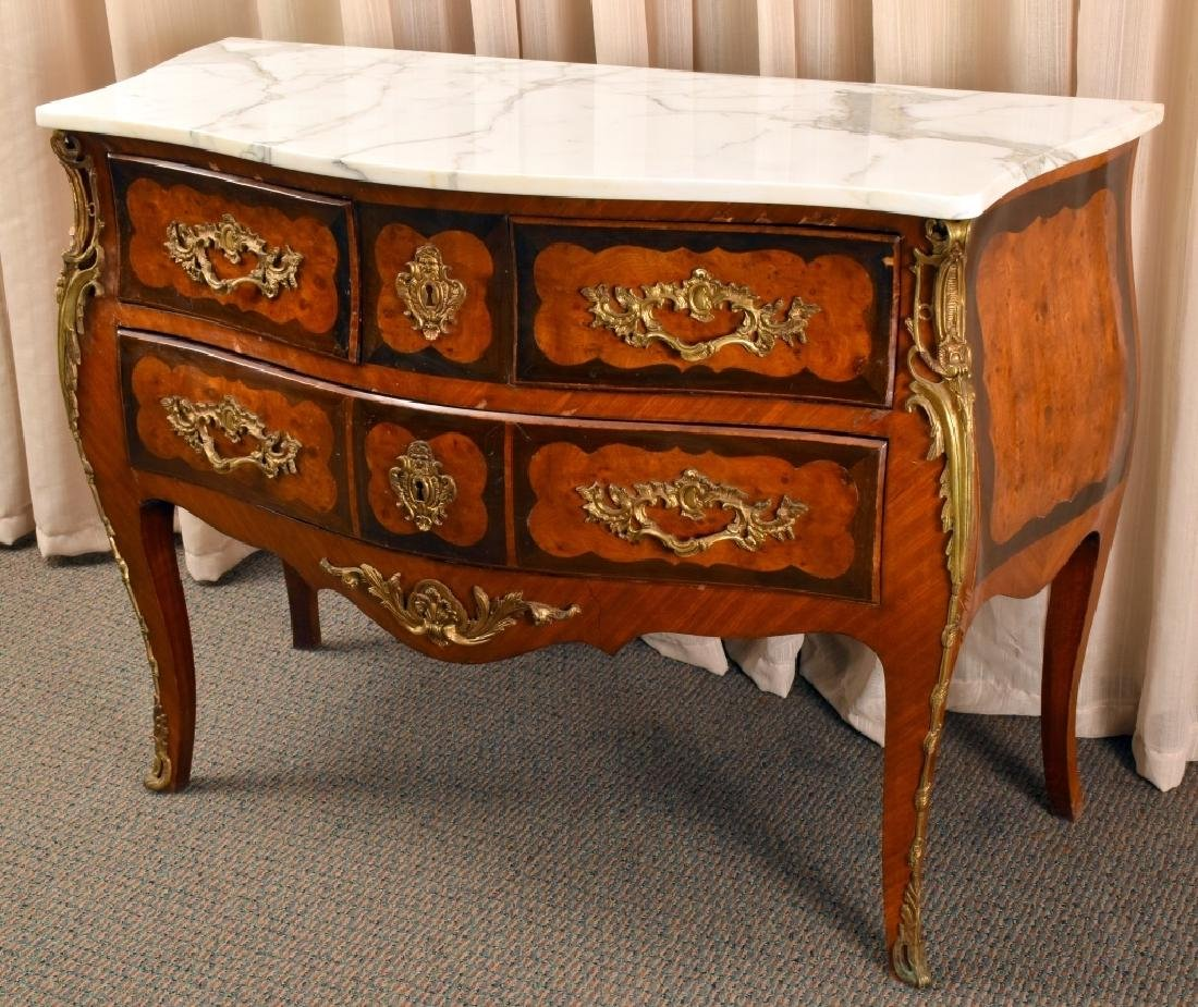 Louis XV Style Serpentine Front Commode - 3