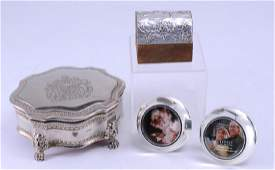 Silver Plate Felt Lined Box Silver Mirrors  More