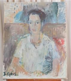 Jan Cybis Original Portrait on Canvas