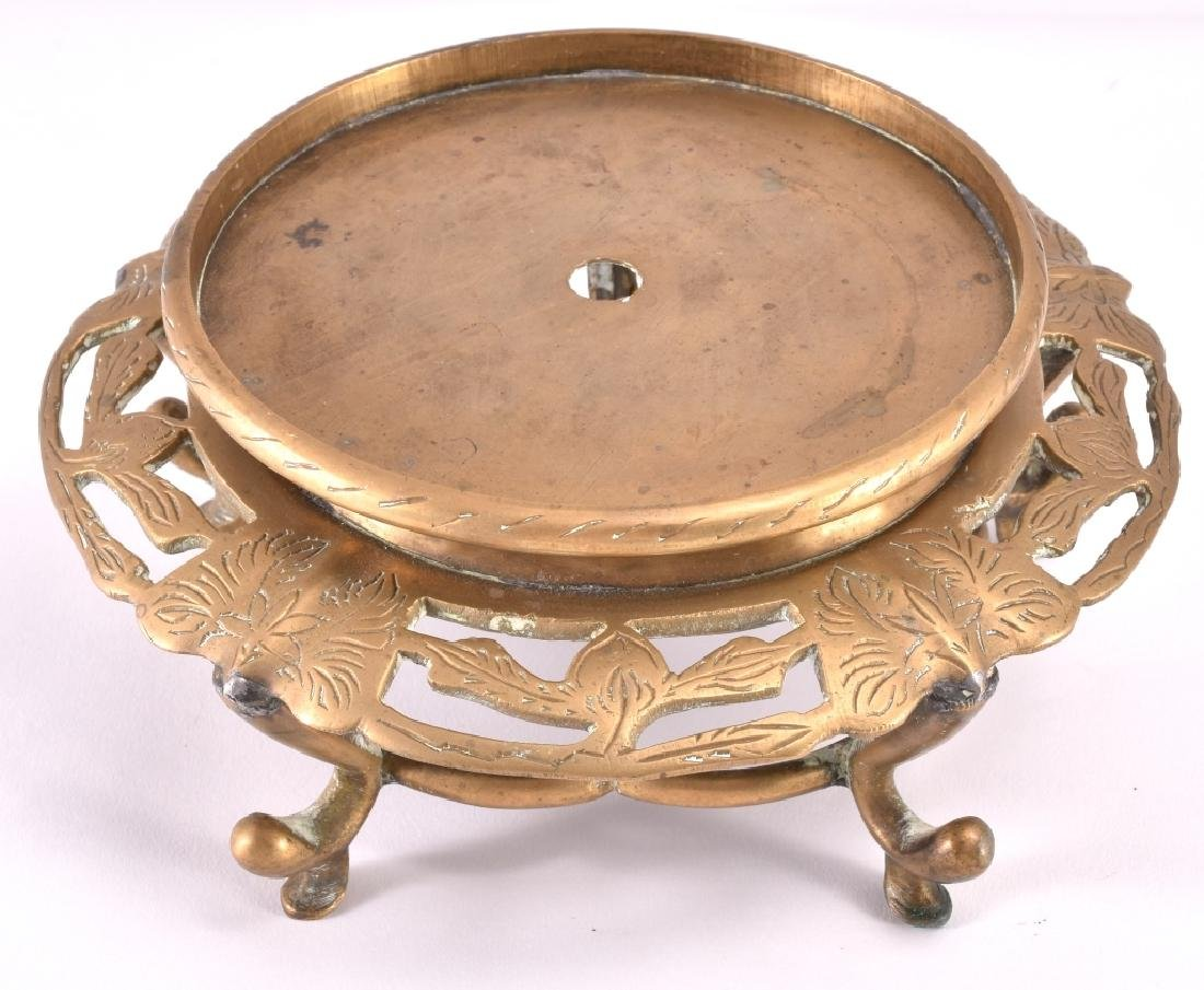 Oriental Engraved Brass Plant Stand
