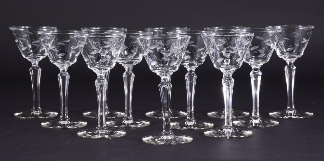 "12 Libbey ""Windswept"" Stemware Glasses"