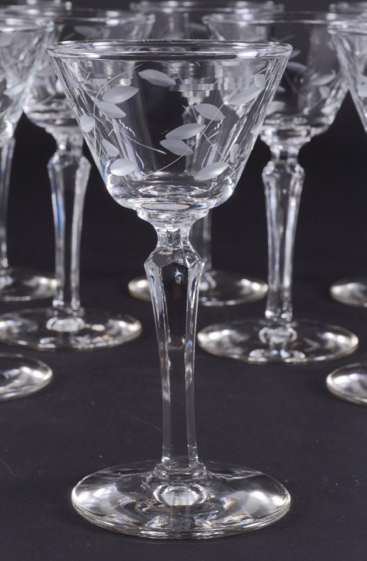 "12 Libbey ""Windswept"" Stemware Glasses - 2"