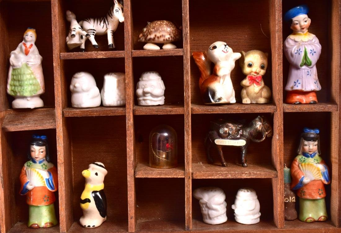 Vintage Miniature Collectibles In Display Case - 3