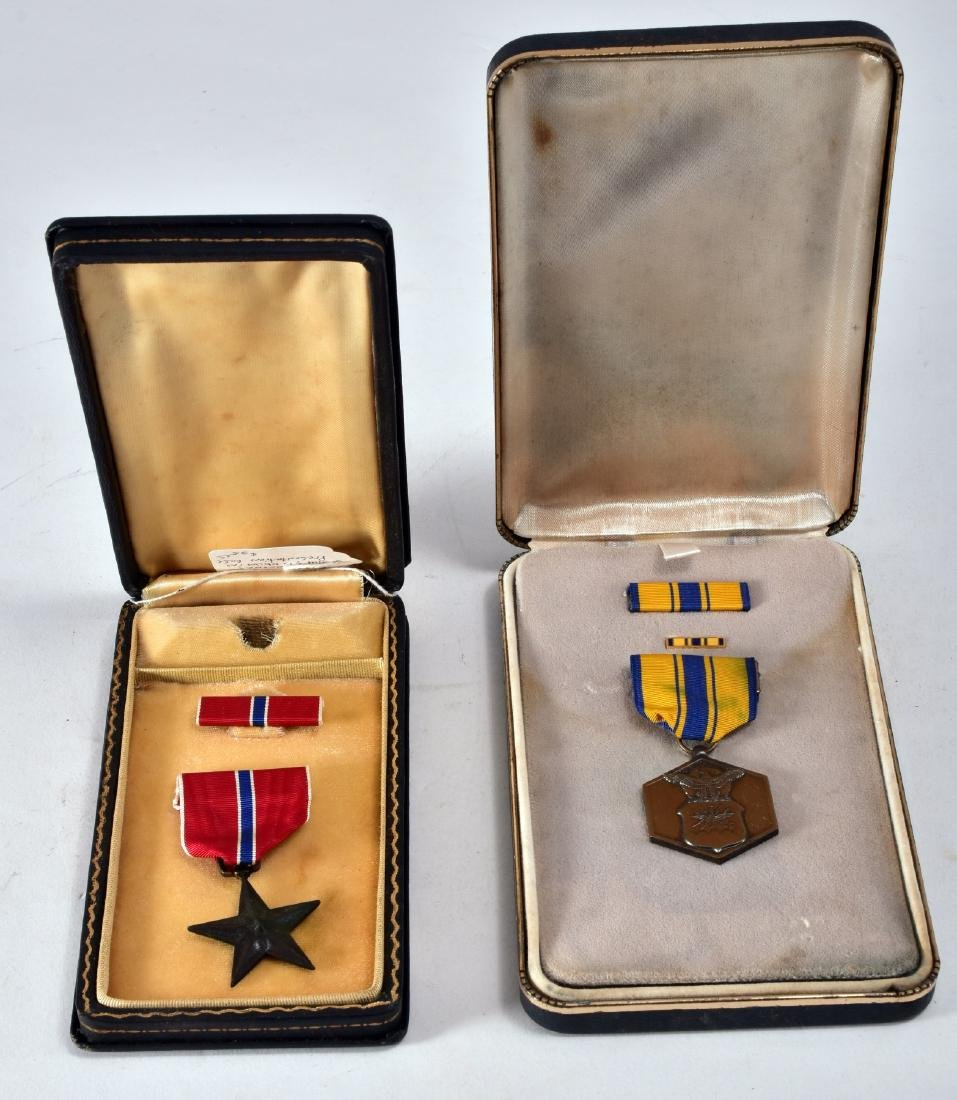 WWII Military Metals In Presentation Case