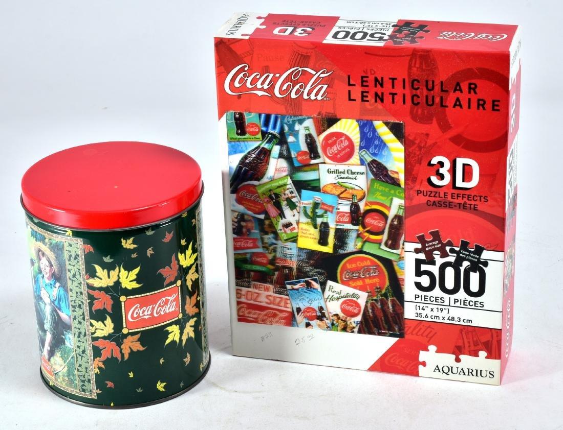 2 Vintage Coca-Cola Puzzles