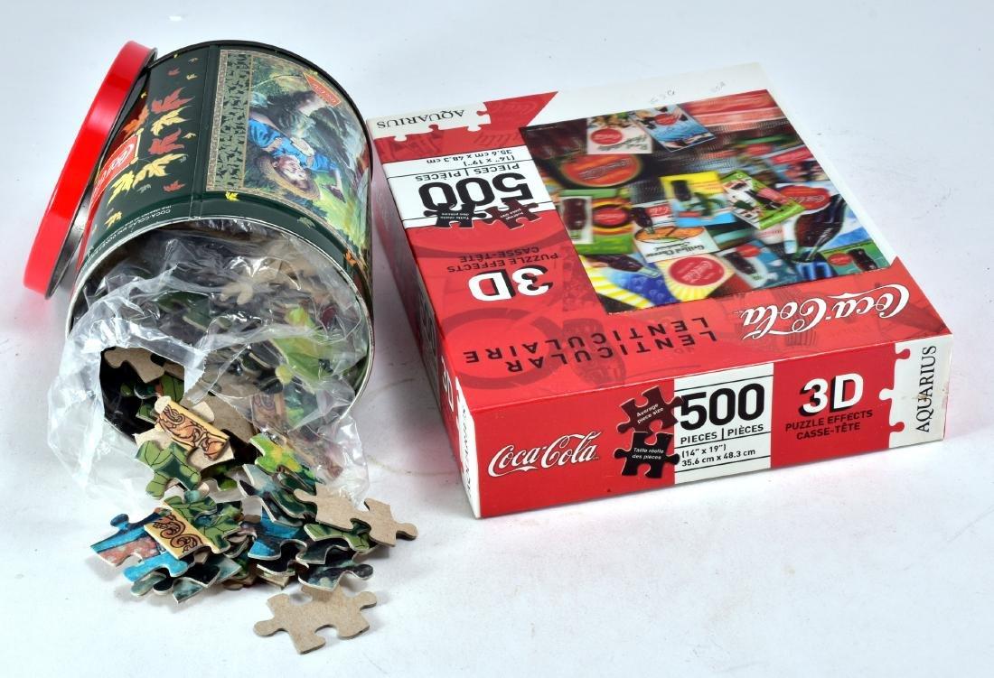 2 Vintage Coca-Cola Puzzles - 2