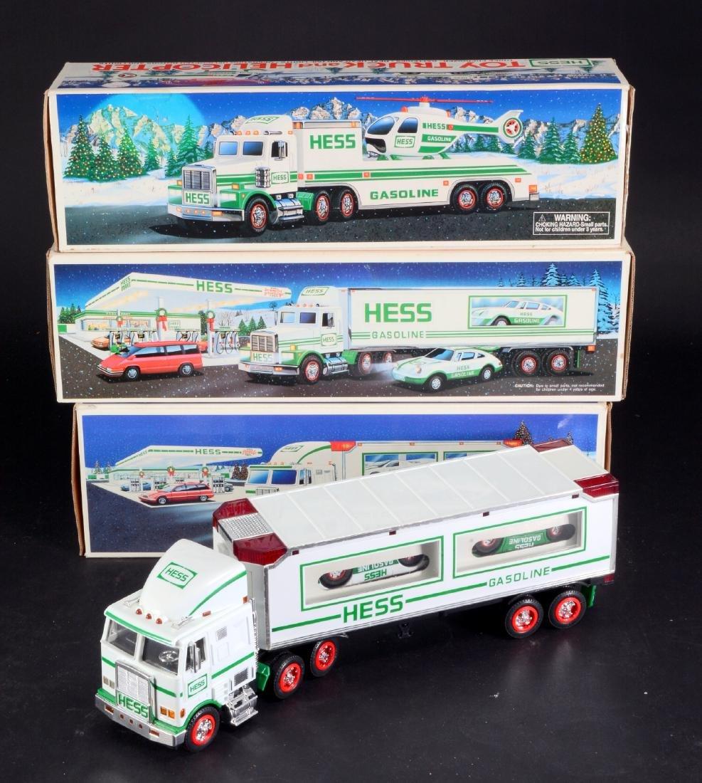 3 Vintage Hess Toy Trucks