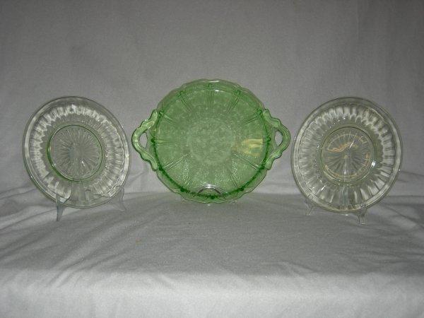 10: Green Depression Glass