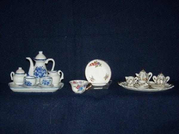 21: Miniature Porcelain Teasets