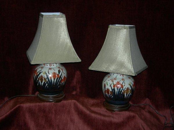 2: PAIR KUTANI DRESSER LAMPS