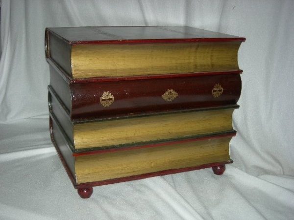 59 Faux Book Stack End Table Lot 59