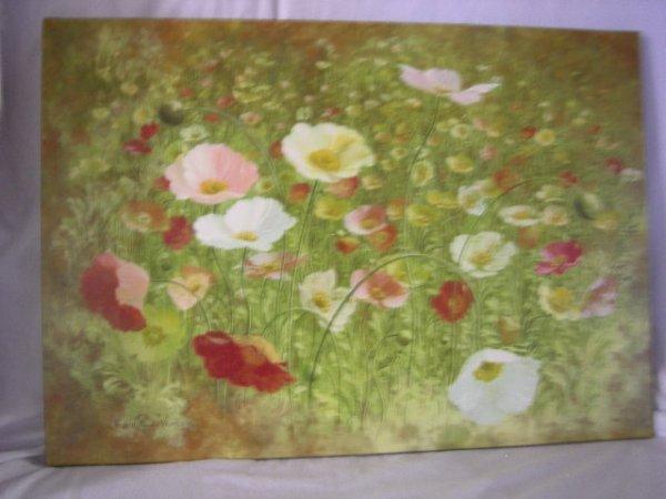 80: UNFRAMED FLORAL ART