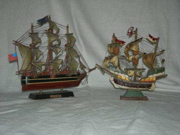 247: 2 MODEL SAILING SHIPS