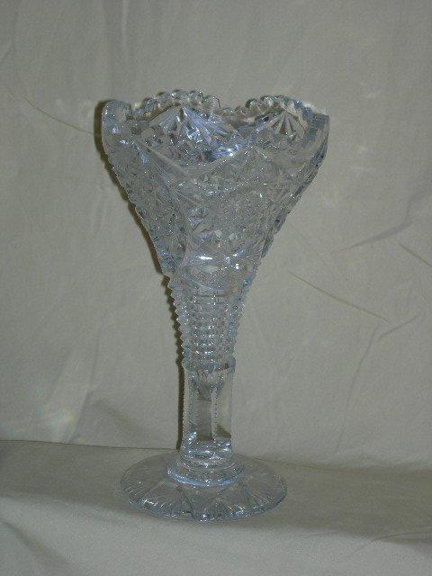 9: CUT GLASS VASE