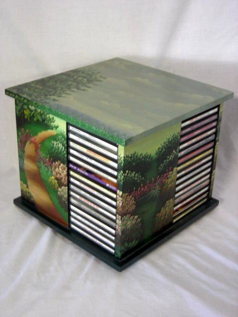 12: PAINTED CD STORAGE UNIT