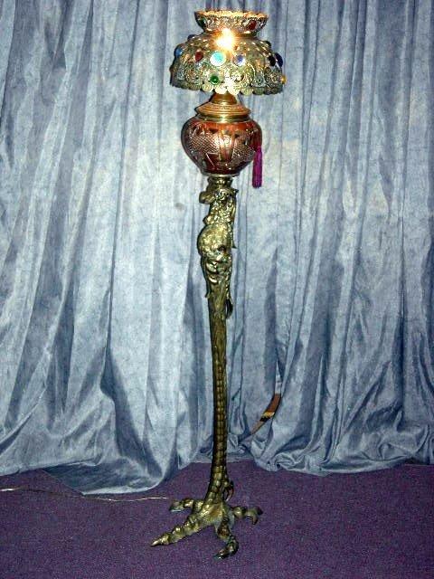 161: PIERRE EMMANUEL GUERIN BIRD FLOOR LAMP