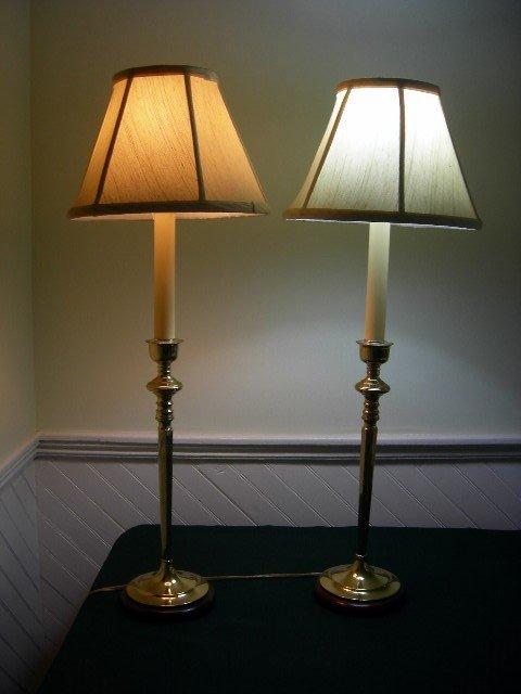 6: PAIR TALL BUFFET LAMPS