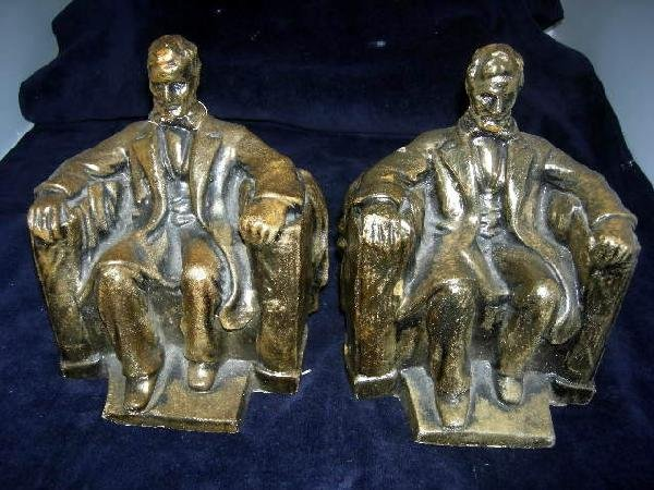 17: LINCOLN BOOKENDS