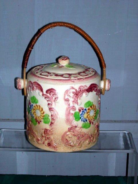 5: JAPANESE CERAMIC BISCUIT JAR