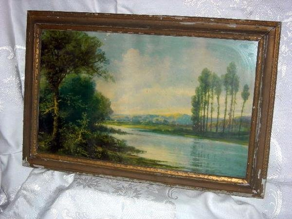 430: FRAMED LAKESIDE PRINT