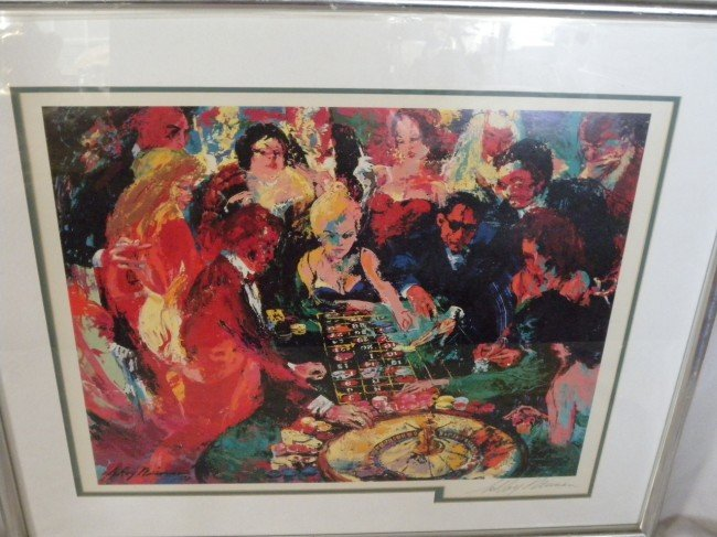 1: LEROY NEIMAN POSTER TITLED ROULETTE