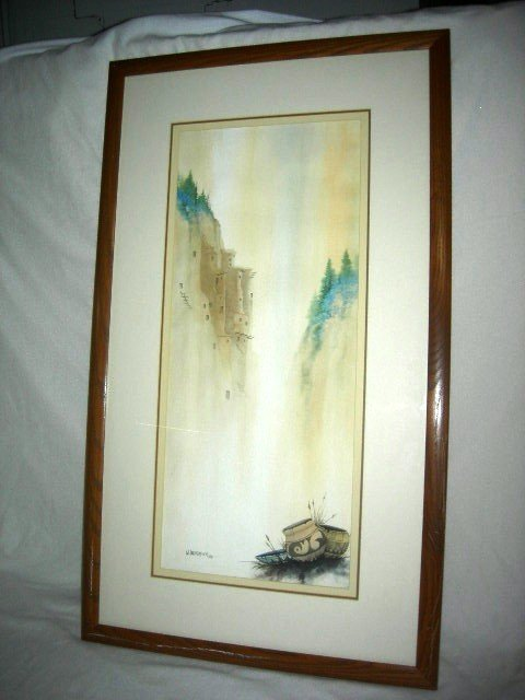 5: LANDSCAPE WATER COLOR BY W. ONEFEATHER (US 20th c.)