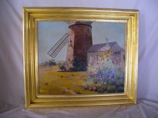 9: BLANCHARD OIL ON CANVAS OF WINDMILL