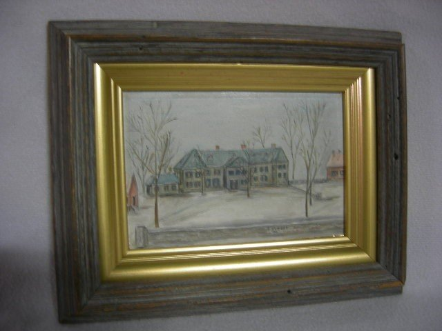 12: O'LEARY OIL ON BOARD HOUSE AMONG TREES