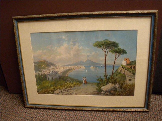 18: MONTULLO (ITALIAN, 19TH/20TH C.) WATERCOLOR