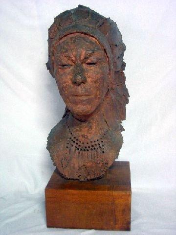 19: GAMBARA INDIAN CHIEF BUST